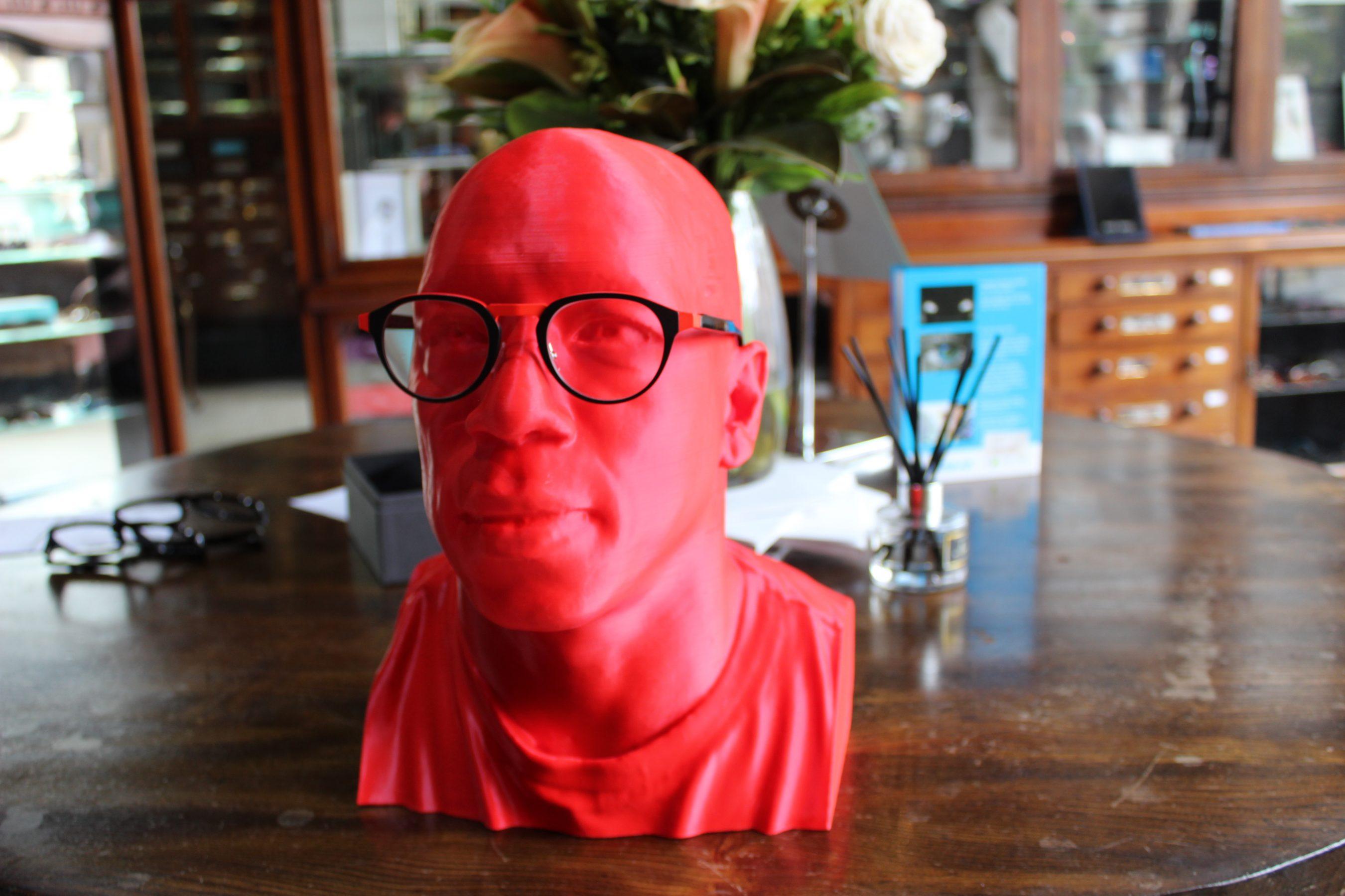 Ian Wright's Red Head Bespoke Eyewear