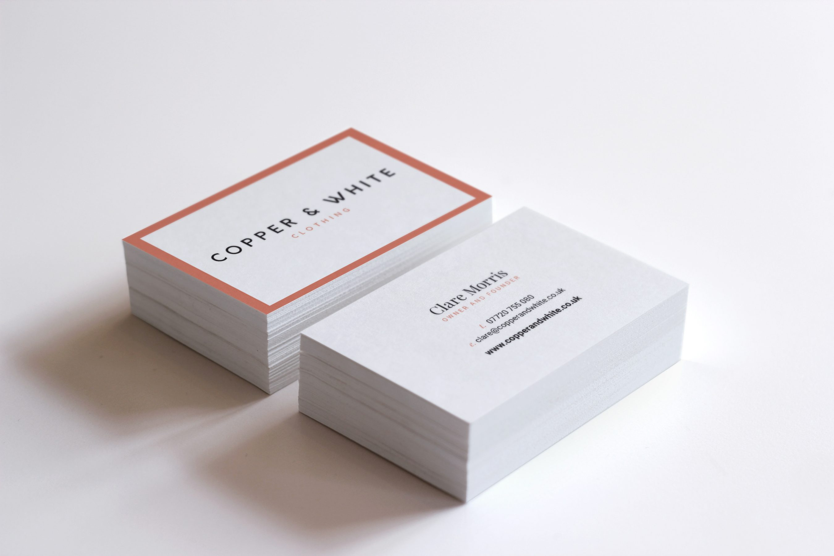 Copper & White Business Cards