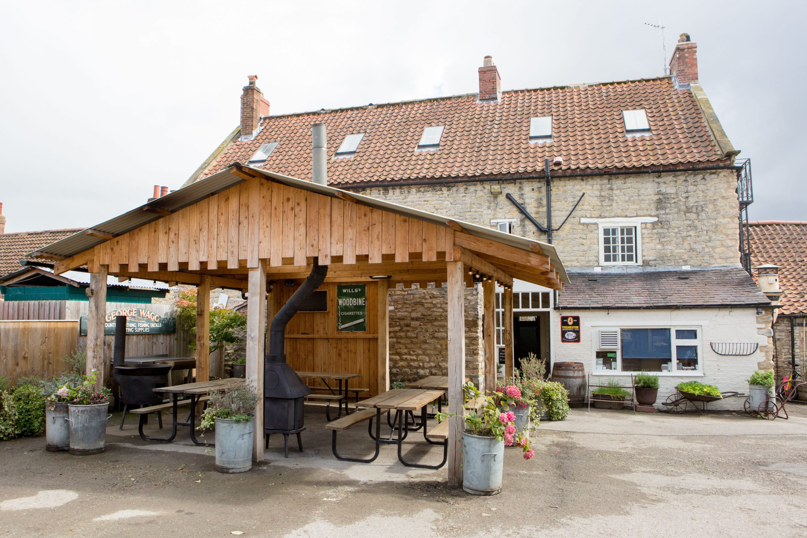 The Grapes Inn Slingsby Outdoor Area