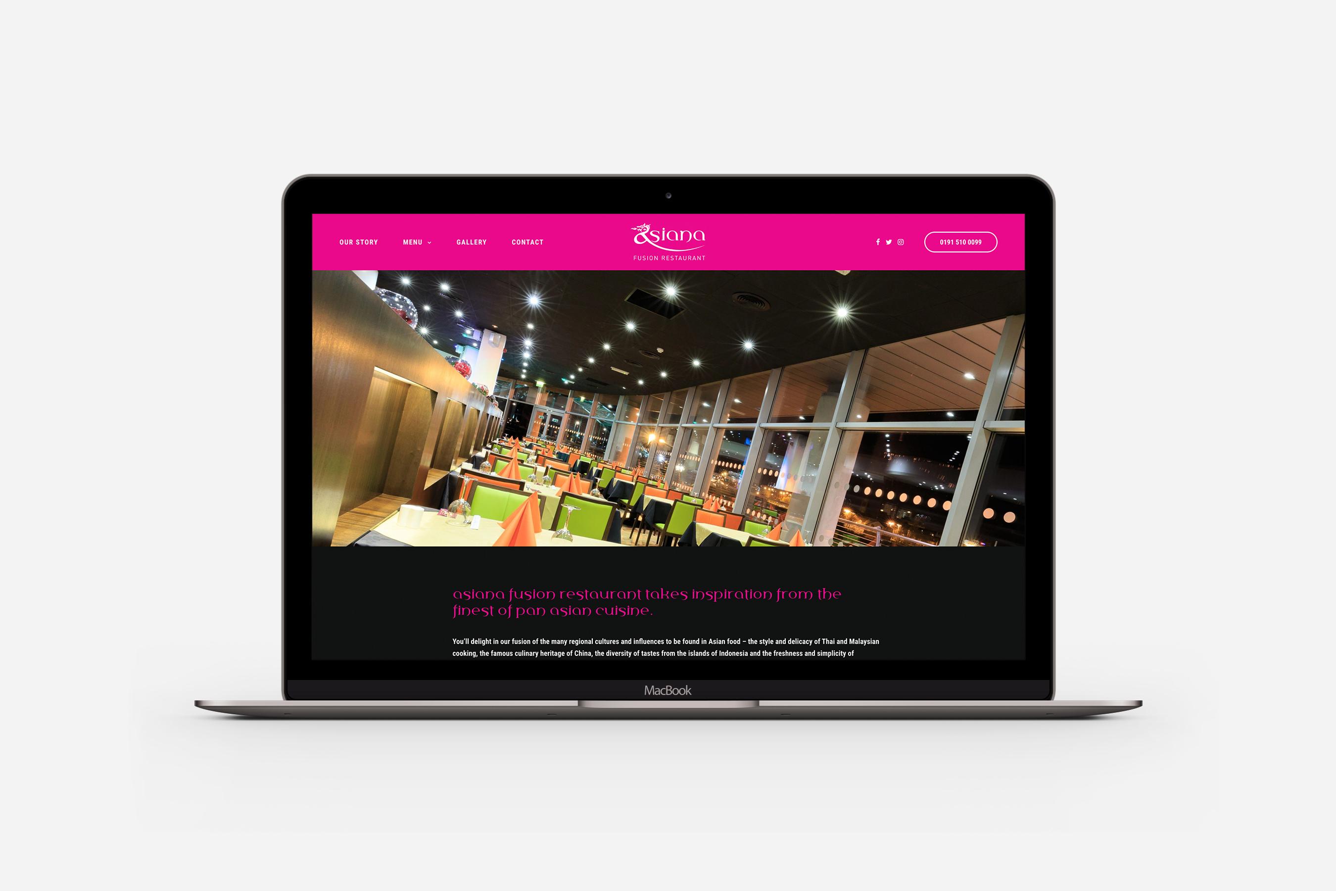 Asiana Fusion Website Screen
